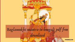 Baglamukhi mantra in bengali pdf free download